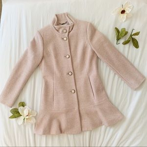 Kenzie Wool Peplum Coat